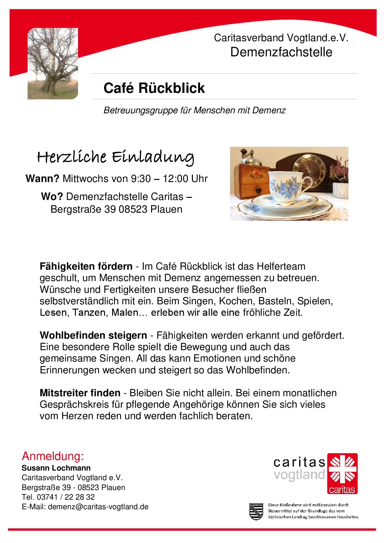 Plakat Café Rückblick